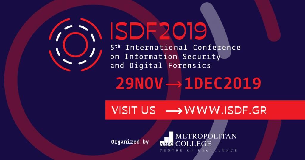 5ο Διεθνές Συνέδριο Ασφαλείας Πληροφοριών & Ηλεκτρονικής Εγκληματολογίας από το Μητροπολιτικό Κολλέγιο στη Θεσσαλονίκη